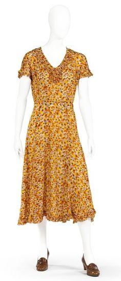 Day dress, 1930s, Swedish.