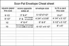 Score pal envelope template and video: Template & Printable Patterns - Splitcoaststampers