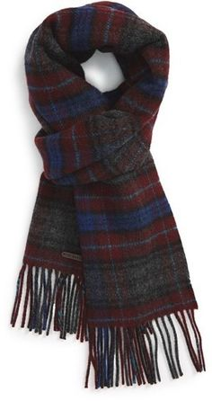 $42, Ted Baker London Check Print Virgin Wool Scarf. Sold by Nordstrom. Click for more info: https://lookastic.com/men/shop_items/388671/redirect