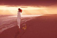 femme-et-chien-plage