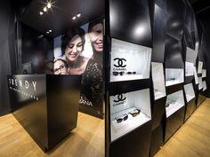 Trendy by Vision Express optician saloon by EMKWADRAT Architekci, Lodz Poland store design Visual Merchandising, Optical Shop, Store Windows, Design Furniture, Store Design, Luxury Branding, Poland, Display, Exhibit