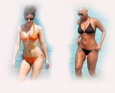 bikini, Kate Beckinsale VS Amber Rose fashion diva who-wore-it-better celeb celebrity