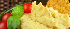 Basil Pesto Hummus - Plant-Based Diet and Nutritional Organic Superfoods