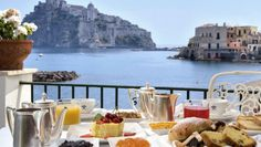 Hotel Miramare e Castello: Hotel Miramare e Castello's restaurant terrace offers Stunning views of Aragonese Castle.