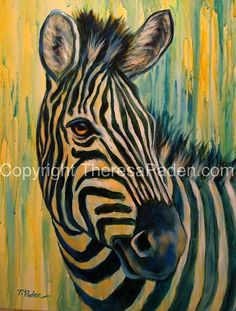 """Mare of Maasai Mara"" by Theresa Paden, Acrylic painting on canvas~ 24"" x 18"" Wildlife Paintings, Wildlife Art, Animal Paintings, Acrylic Paintings, Oil Paintings, Zebra Painting, Zebra Art, African Animals, African Art"