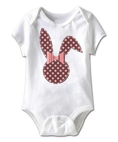 Loving this White & Pink Easter Bunny Bodysuit - Infant on #zulily! #zulilyfinds