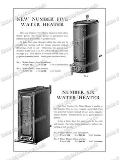 DIGITIZED Antique Catalog Page of Detroit Stove Works – Water Heaters for INSTANT DOWNLOAD, File Types: tif, jpeg, pdf, file #317 by… #deals