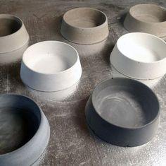 Concrete Dog Bowl by VerteXdesignstudio on Etsy
