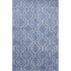 Found it at Wayfair - Vajrabahu Hand-Tufted Blue Area Rug