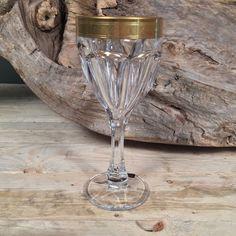 Ποτήρι Κρασιού Γάμου Χρυσή Λεπτομέρεια Ανάγλυφη
