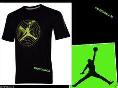 6d67c27d MEN'S SIZE LARGE NIKE JORDAN JUMPMAN BASKETBALL T-SHIRT RADAR LIME GREEN  BLACK #Nike