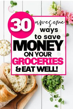 Save money on groceries with these awesome frugal living tips! How to eat healthily while sticking to a food budget, without coupons! These are great ideas for saving money on your grocery bill in Canada and in the USA. Saving money   frugal living   budgeting   meal planning   buying in bulk Healthy Eating Budget, Food Budget, Budget Meals, Save Money On Groceries, Ways To Save Money, Money Saving Tips, Frugal Living Tips, Frugal Tips, Household Expenses