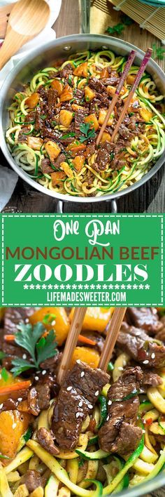Extra Off Coupon So Cheap One Pan Mongolian Beef Zoodles (Zucchini Noodles) make the perfect easy grain free low carb weeknight meal! Best of all it comes together in under 30 minutes with just one pot to clean! So much better and healthier than takeout! Zucchini Noodle Recipes, Zoodle Recipes, Spiralizer Recipes, Paleo Recipes, Asian Recipes, Low Carb Recipes, Dinner Recipes, Cooking Recipes, Zucchini Spirals Recipes