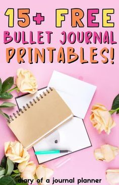 Get these 15+ totally free bullet journal printables to be more organized! #bulletjournalprintables #Bujo Bullet Journal Dot Grid, Bullet Journal Tracker, Bullet Journal Hacks, Bullet Journal Printables, Bullet Journal Themes, Bullet Journal Layout, Bullet Journal Inspiration, Printable Planner, Planner Stickers