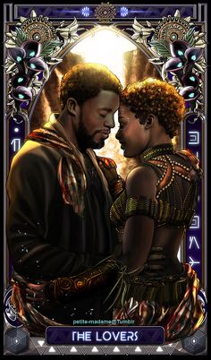 "petite-madame: "" Black Panther Tarot (Part - 2018 My take on The Black Panther movie characters. I'm gonna take a break then work on the rest of the characters soon. Marvel Dc, Marvel Films, Marvel Cinematic, Marvel Heroes, Black Panther Marvel, Black Panther Art, Black Girl Art, Black Women Art, My Black Is Beautiful"