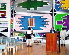 Patterned Out ---ndebele pattern African Design, African Style, African Wall Art, African Interior, Examples Of Art, Art Curriculum, Cultural Identity, Black History Month, Art Forms