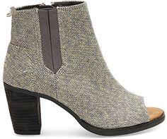 6863e65fdb0 Toms Women s Majorca Peep Toe Casual Shoe (9.5 B(M) US