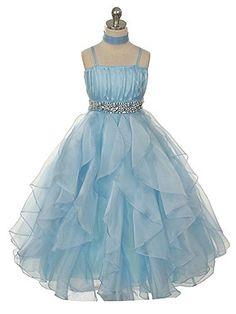 Fashion Plaza Girl's Organza Ruffle Flower Girl Pageant Ball Gown Dress K0044 (6, Light Sky Blue) FASHION PLAZA http://www.amazon.co.uk/dp/B00PJVGBAI/ref=cm_sw_r_pi_dp_jTUjvb1N347X5