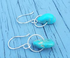 Kingman Turquoise and Sterling Silver by TheHeightsJewelry on Etsy