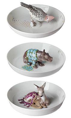 Hella Jongerius for Nymphenburger Ceramic Clay, Porcelain Ceramics, China Porcelain, Ceramic Pottery, Slab Pottery, Ceramic Bowls, Cerámica Ideas, Pottery Sculpture, Ceramic Animals