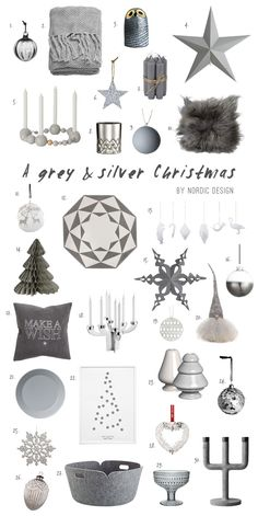 A Holiday Décor in Grey & Silver