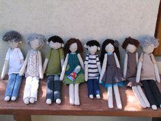 Familia muñeca muñeca de trapo familiar