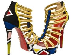 Art or fashion? These Louboutin pumps are out of control!