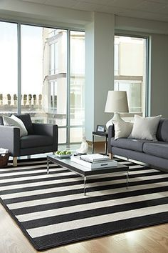 Let your floor play 'dress-up' once in awhile, it may surprise you. Cabana Stripes Rug in Tuxedo. #braidedrugs http://www.capelrugs.com/cabana-stripes-tuxedo-rugs