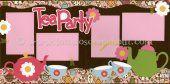 Tea Party Scrapbook Page Kit