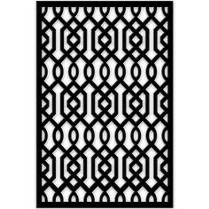 1/4 in. x 32 in. x 4 ft. Black Azzaria Vinyl Decor Panel