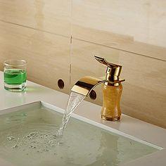 Modern Waterfall Brass Imitation Jade Ti-PVD Bathroom Sink Faucet - Golden http://www.tapso.co.uk/modern-waterfall-brass-imitation-jade-tipvd-bathroom-sink-faucet-golden-p-822.html
