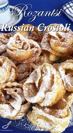 Just like babushka made... This rose-shaped, sweet, crispy, deep fried dessert is also known as Angel Wings, Crostoli, Faworki, Raderkuchen, Bugnes, Hvorost and more.