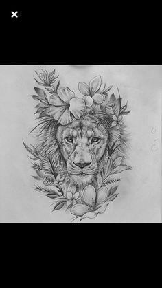 15 most amazing tiger tattoos for women - diy tattoo images - Tattoo Designs For Women Wolf Tattoos, Skull Tattoos, Body Art Tattoos, Girl Tattoos, Sleeve Tattoos, Leo Lion Tattoos, Hand Tattoos, Thigh Sleeve Tattoo, Horse Tattoos