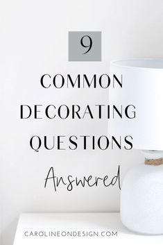 9 Common Decorating Questions that Caroline on Design answers. I'm sharing nine of the common decorating questions I am repeatedly asked. Find decorating tips here! Interior Decorating Tips, Interior Design Tips, Question And Answer, This Or That Questions, Types Of Window Treatments, Classic Window, Modern Farmhouse Exterior, Kitchen Trends, White Houses