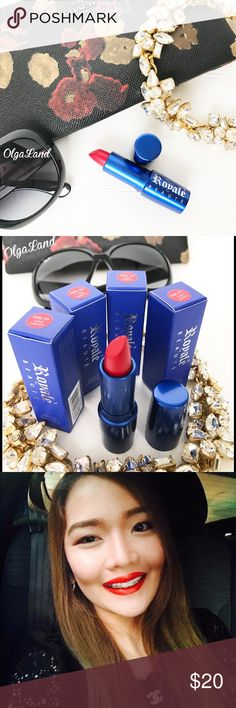 Red cream matte Lipstick Made in France. Long wear lip cream. It feels moisturizing and have soft sheen .To boost endurance: coat lips with color and then blot lips on a b oil blotting sheet.                                               NOTE: DO NOT purchase here , I can make a new listing for you. Thank you Makeup Lipstick