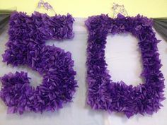 Purple 50th Birthday Party Decoration