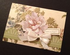 Shabby and Elegant Floral Birthday Card by PinkPetalPapercrafts