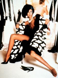Pirelli Calendar, November 1985 Photographer: Norman Parkinson Model: Iman