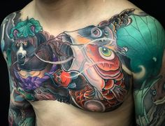Tattoo artist Jee Sayalero, color traditional oriental Japanese tattoo | Spain