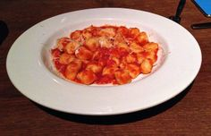 potato gnocchi with tomato, onion and pecorino at 54 Mint in San Francisco