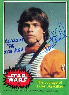 autographe mark hamill