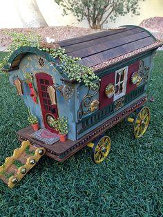 Miniature gypsy caravan wagon | by tammyrivers