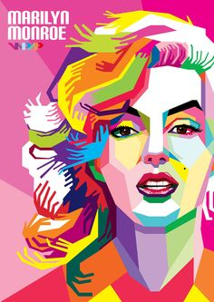 Amazing collection of WPAP (Wedha's Pop Art Portrait) portrait Illustrations, by best WPAP artists and designers. WPAP Art is made using straight lines and sharp, vibrant, contrasting. Pop Art Portraits, Marilyn Monroe Pop Art, Illustration Art Drawing, Wpap Art, Portrait Tutorial, Art, Art Tutorials, Pop Art, Wpap