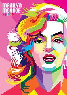 Marilyn Monroe In WPAP by ARaFah