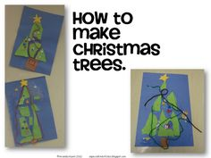 A special kind of class: How to make Christmas Trees
