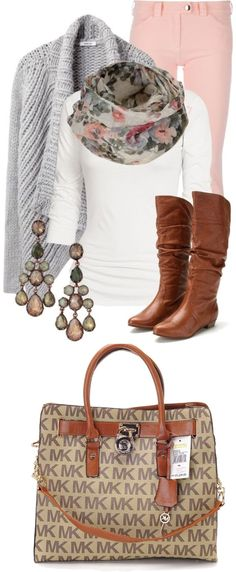 fall outfit.... more so that $84 MK bag!