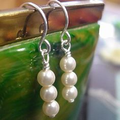 Petite Swarovski Pearl bead earrings add elegance to your day. Great for brides, bridesmaids and a June birthday gift. 30th Anniversary Gifts, Swarovski Pearls, Bead Earrings, Pearl Beads, Birthstones, Bridesmaids, Birthday Gifts, June, Elegant