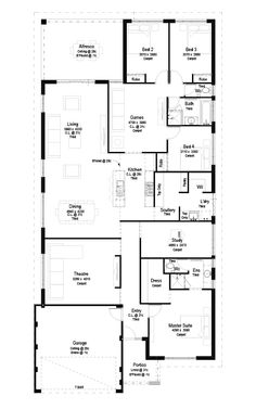 2d Floorplan I like this plan. the only thing is bedrooms are on the wrong side. it needs to be flipped.