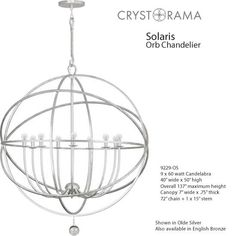 Crystorama Solaris Large Orb Chandeliers  - Large Scale Contemporary Chandeliers - Deep Discount Lighting Transitional Chandeliers, Transitional Lighting, Contemporary Chandelier, Ribbon Chandelier, White Chandelier, Gold Glass, Clear Glass, Large Chandeliers, Discount Lighting
