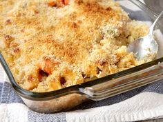 Cheesy Chicken and Macaroni Casserole.  Super easy, but not nearly cheesy enough for my family.  Go crazy with the shredded cheddar topping.  Huge hit and makes great leftovers!